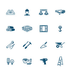 Construction icons - micro series vector