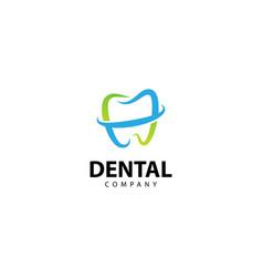 Dental clinic logo tooth abstract design template vector