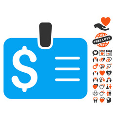 dollar badge icon with dating bonus vector image