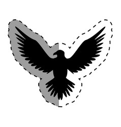 eagle american emblem icon vector image