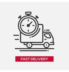 Fast delivery service single icon vector