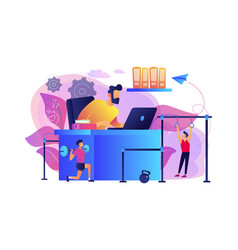 fitness-focused workspace concept vector image