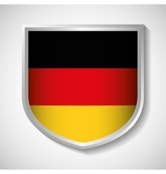 Flag shield icon black red yellow Germany vector