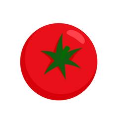fresh tomato icon flat isolated vector image