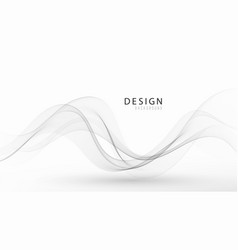 Futuristic abstract background with smooth swoosh vector