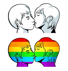 Gay kiss vector image