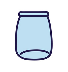 Glass jar empty object icon vector