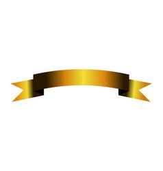 gold ribbon logo icon vector image