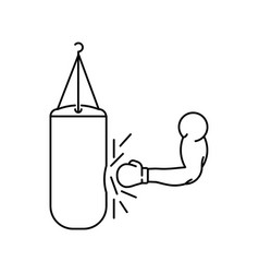 hand and punching bag vector image