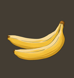 Hand drawn sketch of banana in color isolated on vector
