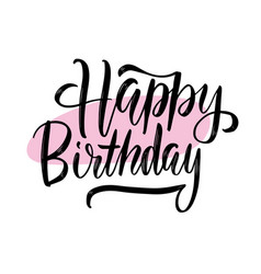 happy birthday black inscription with halftone vector image