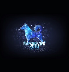 happy new year 2018 - year of dog vector image