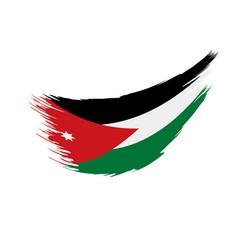 Jordan flag vector
