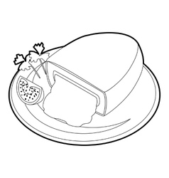 Kiev cutlet icon outline style vector