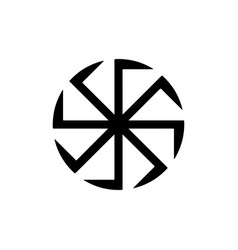 kolovrat swastika or sauwastika isolated vector image