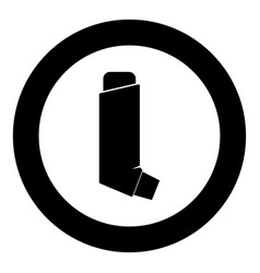 Manual inhaler icon black color in circle round vector