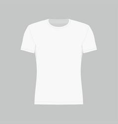 mens white t-shirt vector image