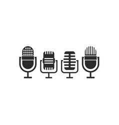 Mic podcast icon design template isolated vector