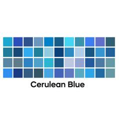 Modern blue color palette set cerulean vector
