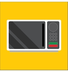 Modern microwave Front view vector image