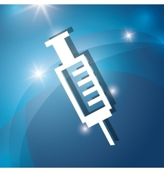 Needle syringe medical vector