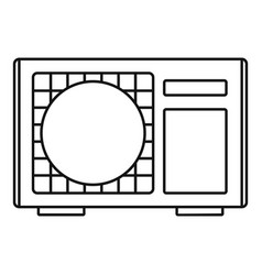 outdoor conditioner radiator icon outline style vector image