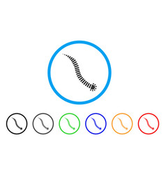 parasite worm rounded icon vector image