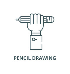 pencil drawing line icon linear concept vector image