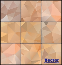 Polygon background gray colors set vector