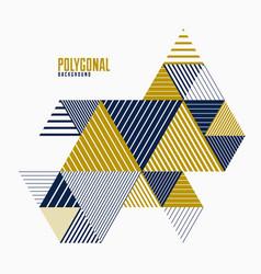 Polygonal low poly abstract design artistic retro vector