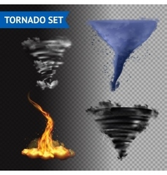Realistic 3d Tornado Set vector image