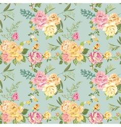 Seamless Flower Background - Shabby Roses vector image