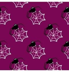 Seamless Pattern Halloween Spider vector image
