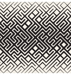 Seamless Rounded Line Maze Irregular vector image