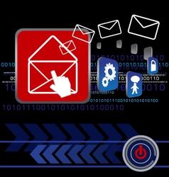 Send E-mail vector image