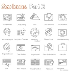 SEO icons set part 2 vector image