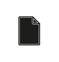 simple document icon vector image