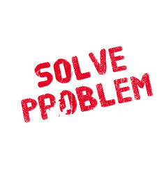 Solve problem rubber stamp vector