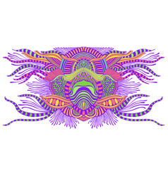 space psychedelic trippy abstract element bright vector image