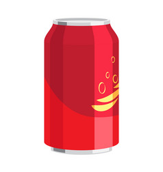 Steel can of drink celebration of any holiday vector