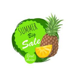 Summer big sale summertime vector