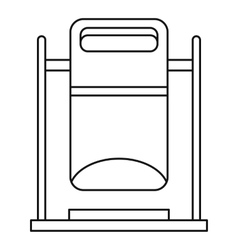 Swinging trashcan icon outline style vector