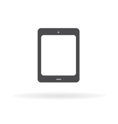 tablet icon flat design style1 vector image
