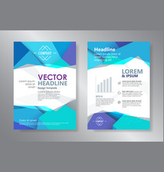 template polygon abstract design magazine vector image