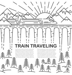 template with modern train vector image
