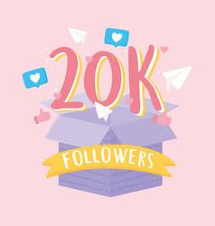 Thank you 20k followers vector