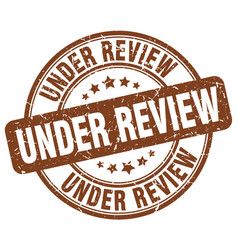 under review vector image