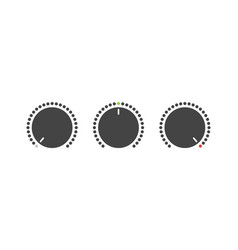 volume set button voice button on and off button vector image