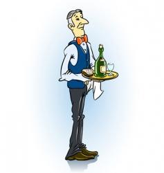 Waiter in restaurant vector