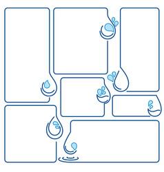 water drop ecology set banner frames vector image